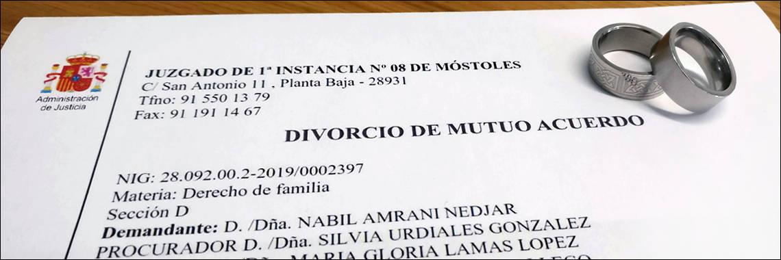 Copia certificada de una sentencia de divorcio de mutuo acuerdo de un tribunal de Madrid