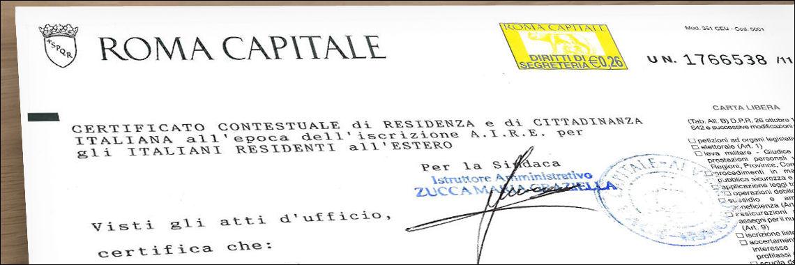 Padrón, volante de empadronamiento o certificado de residencia